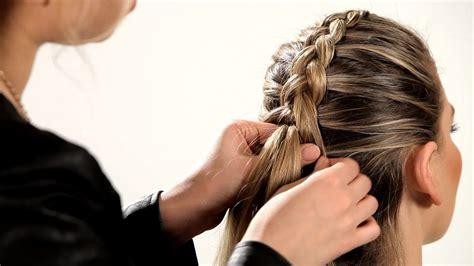 reverse french braid braid tutorials youtube