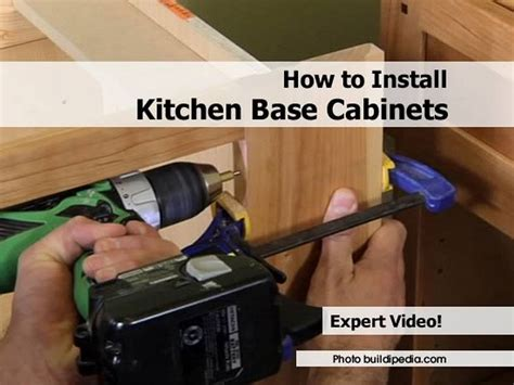 kitchen cabinet installation tips how to install kitchen base cabinets