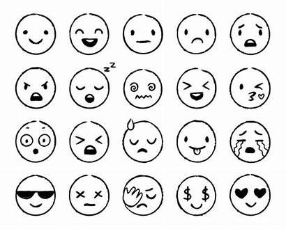 Emoji Face Sketch Smile Drawn Doodle Emojis