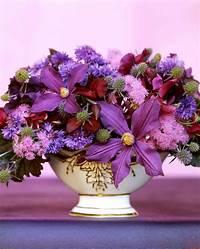 pictures of flower arrangements Purple Flower Arrangements   Martha Stewart