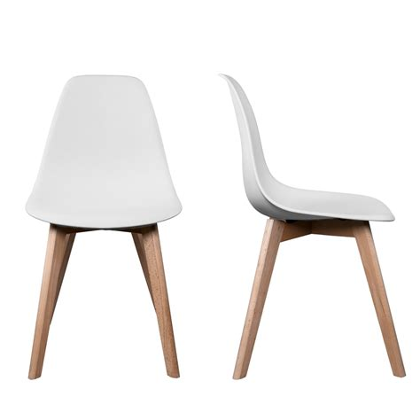 chaises blanches pas cher chaise scandinave pas cher chaise design topkoo