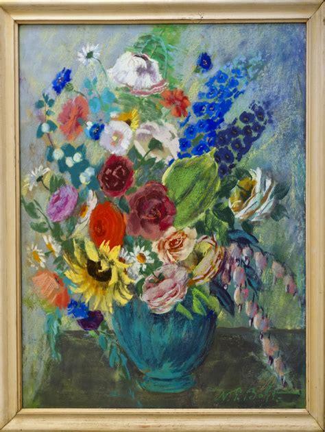 Tulpenstrauß In Vase by Stilleben Mit Blumenstrau 223 In Gr 252 Ner Vase
