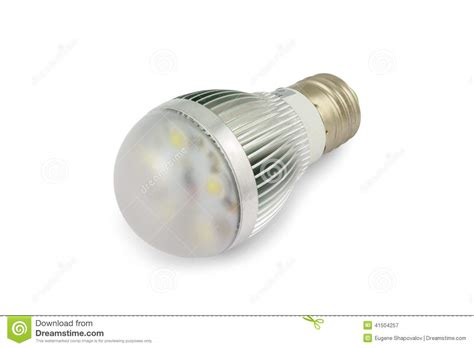 energy saving high power led light bulb e27 stock photo