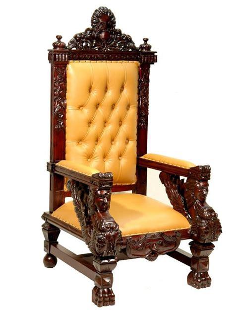 chaise du moyen age trne royal en acajou style mdival meuble de style