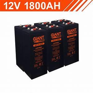 21 6kwh 12v 1800ah Lead Carbon Battery Bank  2v Cells