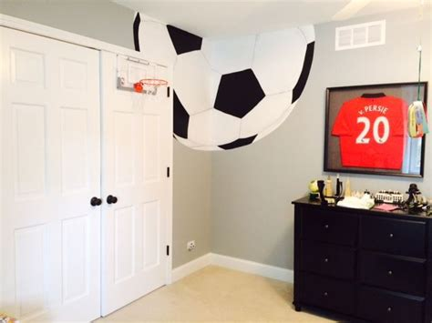 Sports Corner In The Boys Room by 25 Best Soccer Themed Bedrooms Ideas On