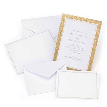 Arts Crafts & Sewing Glitter wedding invitations