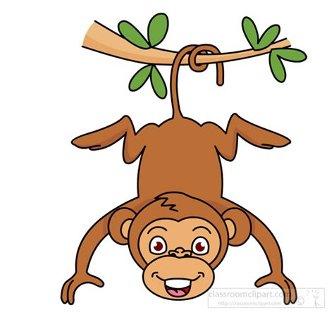 clipart of monkeys monkey clipart monkey hanging from tree classroom clipart