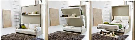 flip sofa murphy wall bed combo with a sofa in front