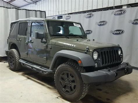 crashed jeep wrangler salvage jeep wrangler unlimited suvs for sale and auction