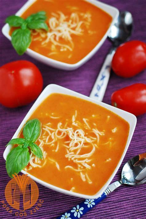 Zupa pomidorowa ze świeżych pomidorów | Recipe | Food ...