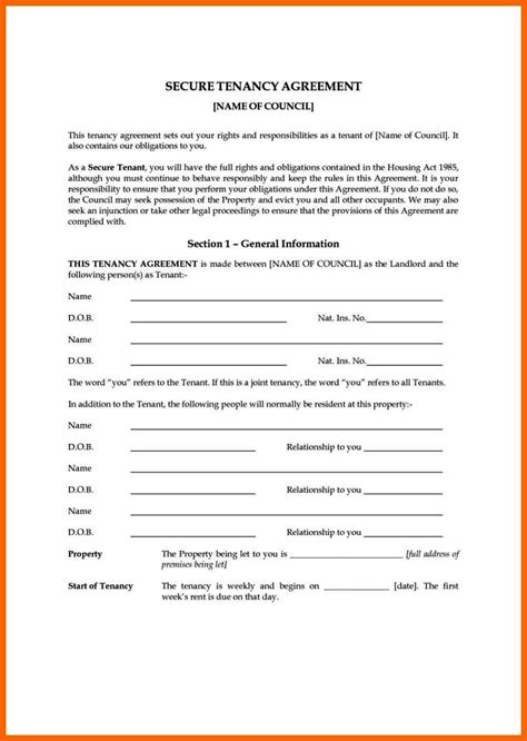 Rental Contract Template Uk by Rental Contract Template Uk Sletemplatess