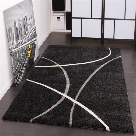 tappeti pelo corto tappeto dal design moderno in a pelo corto nero