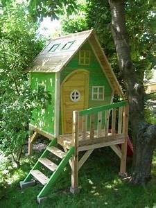 kinderspielhaus stelzenhaus aus holz mit rutsche amazon With französischer balkon mit kinder garten spielhaus