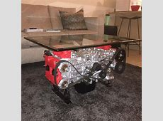 Converting a Wrecked Car into a Boxer Engine Coffee Table