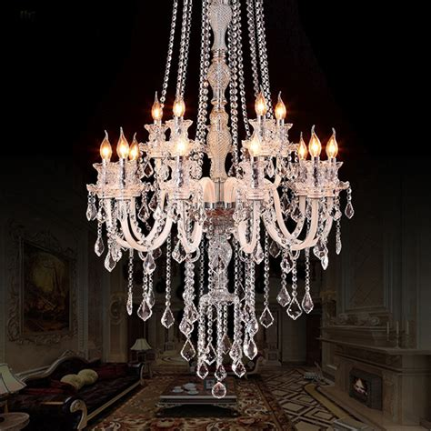 Large Modern Crystal Chandelier For High Ceiling Extra