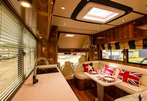sumptuous kitchen sink lighting equihunter luxury horsebox manufacturers