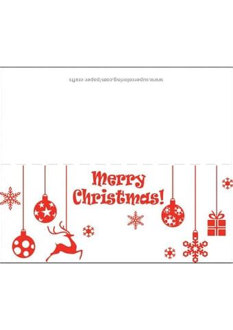 christmas greeting card template  printable