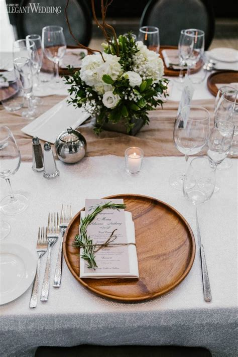 Wood Charger Wedding Place Setting Natural Wedding Table