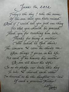 mother in law quotes facebook quotesgram With letter to mother of the groom