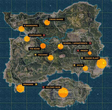 pubg loot map starting out in battlegrounds pubg guides intel hub