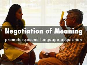 SLA Promotion: Negotiation of Meaning by MsCalbio