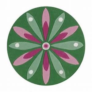 arte espina tapis rond fleur rose et verte With tapis chambre bébé avec envoyer des fleurs a new york
