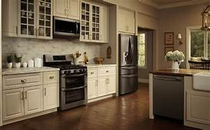 lg black stainless steel series these lg black stainless With kitchen colors with white cabinets with samsung sticker