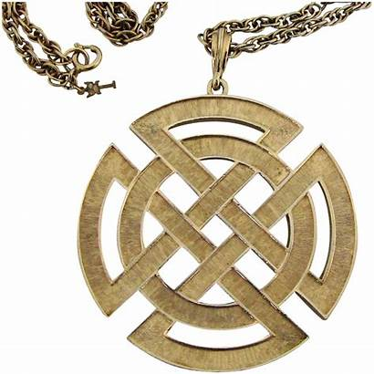 Celtic Chain Knot Pendant Necklace Jewelry Rubylane
