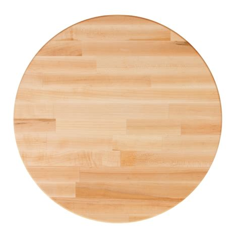 round butcher block table top john boos round blended hard maple butcher block table