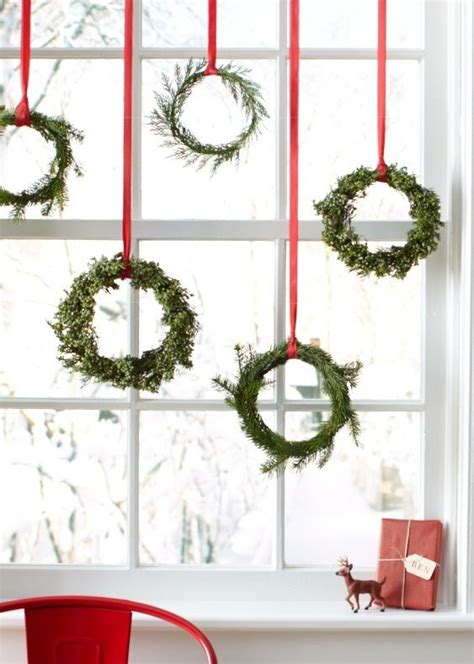 christmas wreaths for windows mini christmas window wreaths holiday pinterest