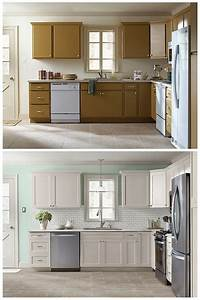 10 diy cabinet refacing ideas diy ready With best brand of paint for kitchen cabinets with bathroom wall art set of 3