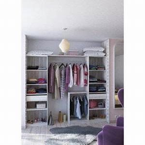Le Roy Merlin Dressing : kit dressing effet bois blanc relief new york x x cm leroy merlin ~ Mglfilm.com Idées de Décoration