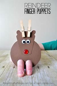 Cutest Ever Reindeer Finger Puppet Craft