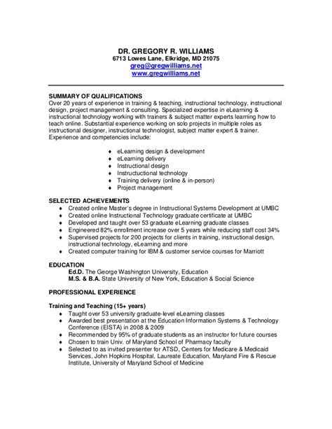 resume business owner of a small business resume of greg williams