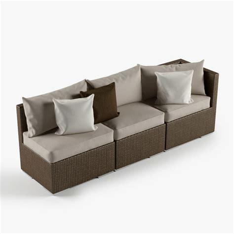 Rattan Lounge Outdoor Furniture 3d Model $22  Obj Max