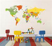 nice world map wall decals Nice World Map Wall Decals - Home Design #940
