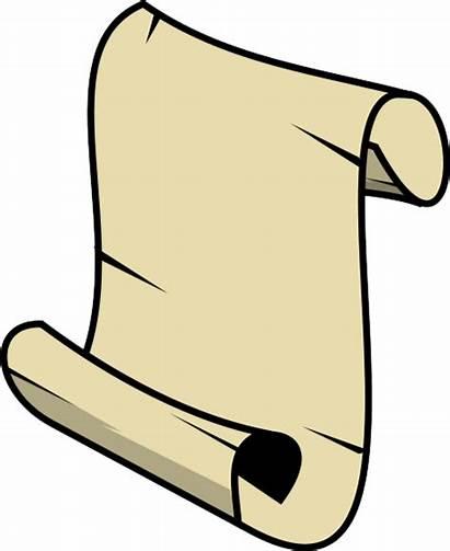 Scroll Clipart Clip Transparent Scrolls Paper Cliparts
