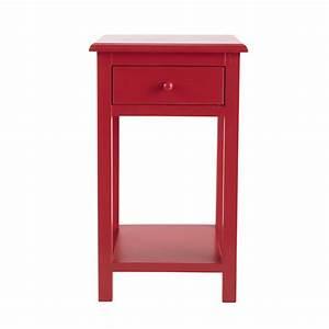 Table De Chevet Rouge : table de chevet enfant avec tiroir en bois rouge l 35 cm coccinelle maisons du monde ~ Preciouscoupons.com Idées de Décoration