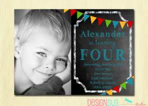 4 Year Old Boy Birthday Invitations