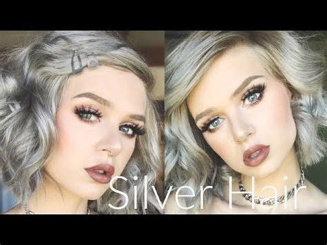 dying  hair silver arctic fox sterling youtube