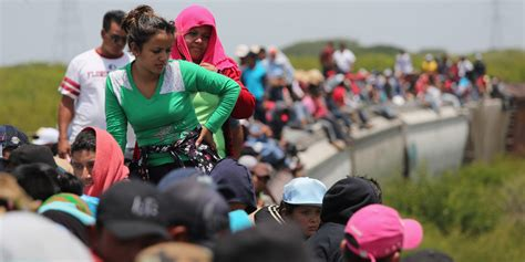 La Bestia Migrants Ride A Of To Get To America We Re