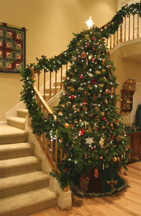 lighted garland for staircase altogether decorating indoor decorating 7022