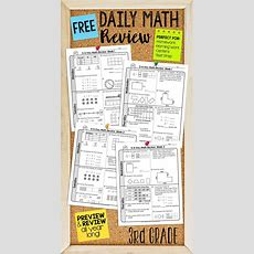 Free Two Weeks Of Daily Math Review For Third Grade Preview And Review Important Math Concepts