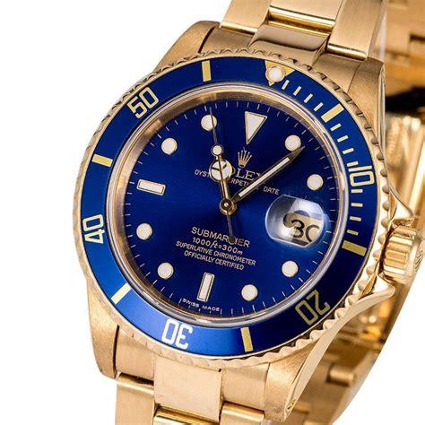 Men's Rolex Submariner 16808 Blue Dial - Buy Used | Bob's ...