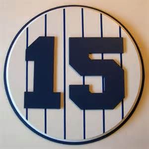 Retired Number 15 Plaque Yankees Thurman Munson - large   Yankees Room