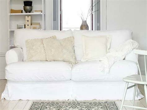white slipcovered chair comfortable white slipcovered sofa that brings