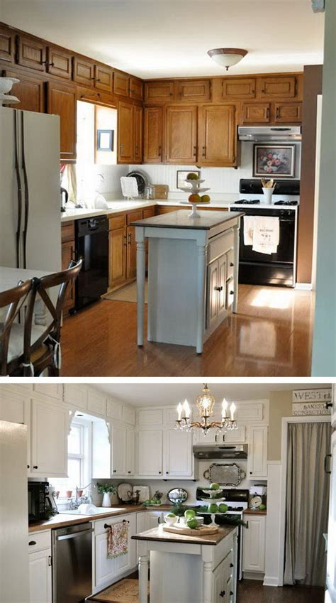 before and after small kitchen makeovers before and after 25 budget friendly kitchen makeover 9090