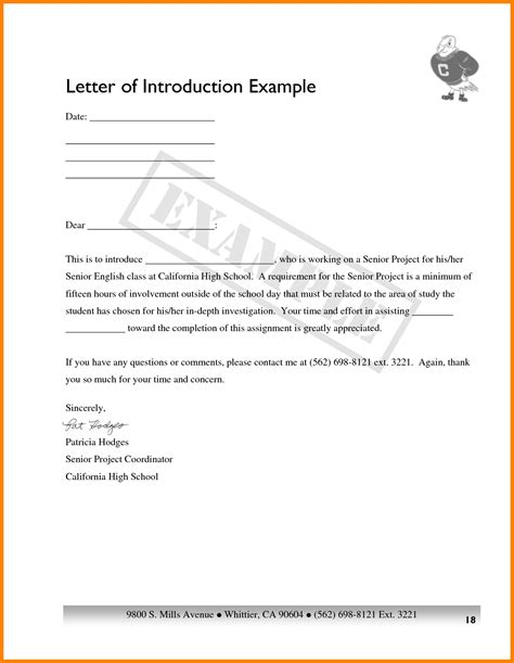 9 how to write a letter of introduction for a