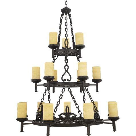 pillar candle chandelier quoizel lp5018ib imperial bronze la parra 18 light 3 tier